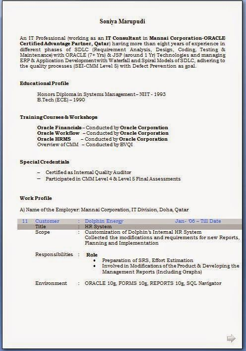 Make Resume Online For Free Oracle Corporation Hrms Types Of Sales