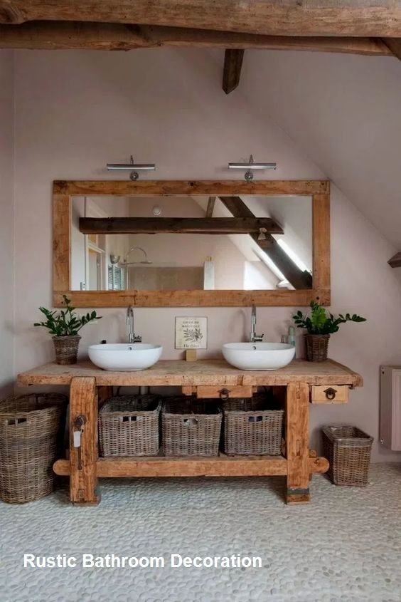 Unique Home Decor Rustic Bathroom Decoration Ideas #rustic #diyrusticdecor.Unique Home Decor  Rustic