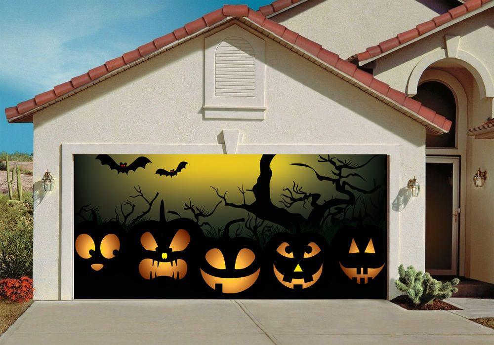 Halloween Garage Door Decorations Billboard Covers Decor Wicked - halloween garage ideas