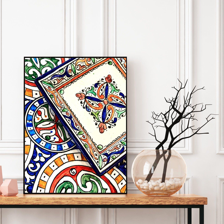 Moroccan Decor Printable Moroccan Plates Print Boho Art Print Bohemian Decor Colourful Large Wall Art Travel Ph Etsy Wall Art Boho Wall Art Moroccan Decor