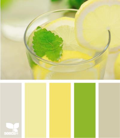 Paleta de colores verde lima y amarillo lim n con un for Paleta colores gris