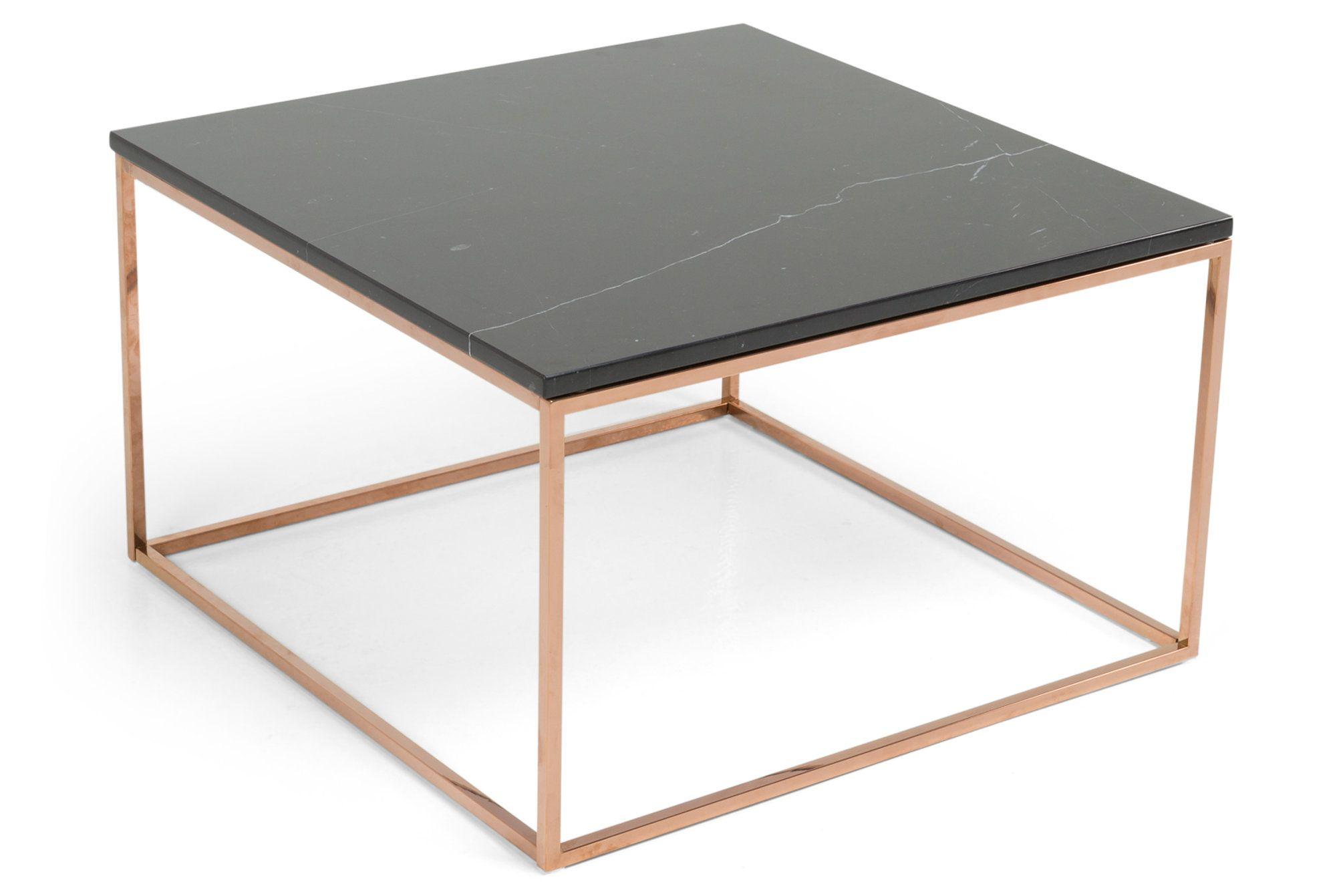Sofabord Titania Svart Marmor Kobber 75x75x45 cm Chilli no Livingroom Design