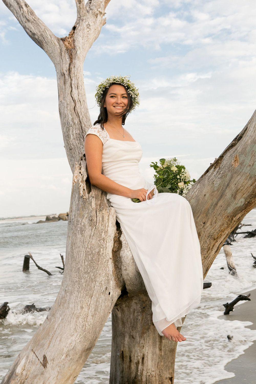 Small Beach Wedding Styled Shoot at Folly Beach Small