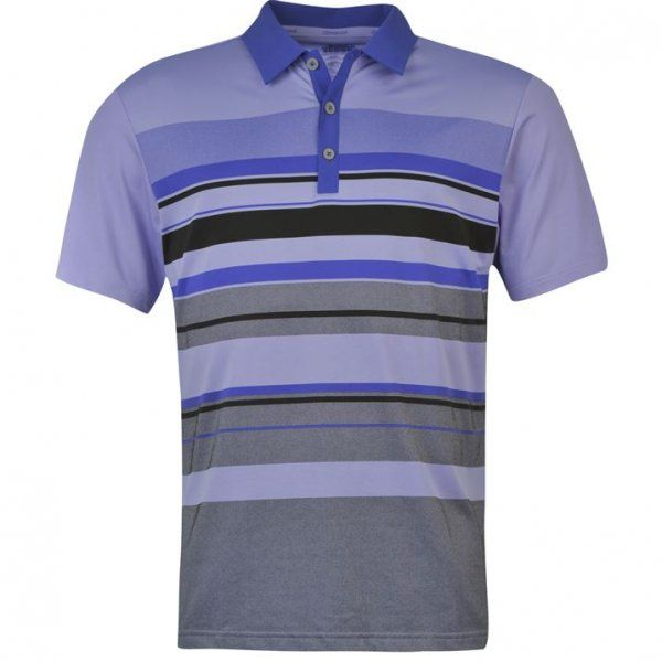 Adidas Climacool Graphic Chest Stripe Mens Golf Polo Purple