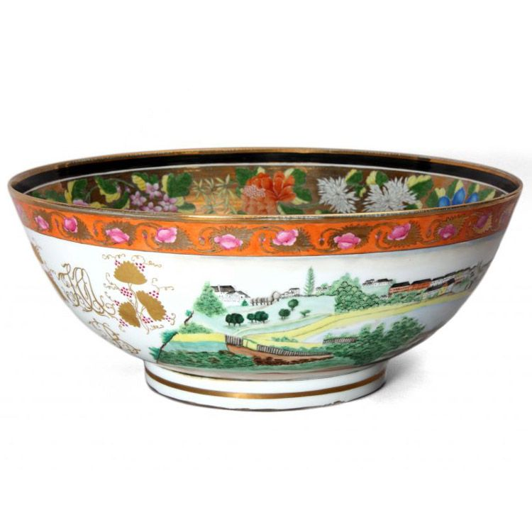 Sydney Punchbowl. A handmade replica of the precious original Chinese bowl in the State Library of New South Wales. Jingdezhen, handmade for Hordern House, 2014. Hand cast and hand painted porcelain punchbowl, 170 mm height, 450 mm diameter; contained in a specially made wooden case, accompanied by a limited edition book. This and more important decorative art for sale on CuratorsEye.com