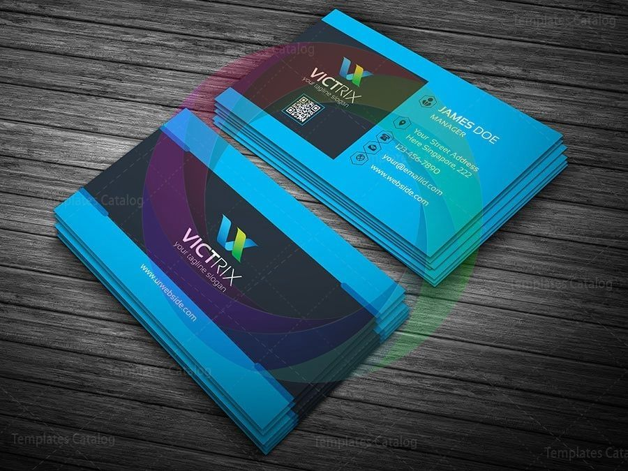 Blue perfect business card template graphic yard