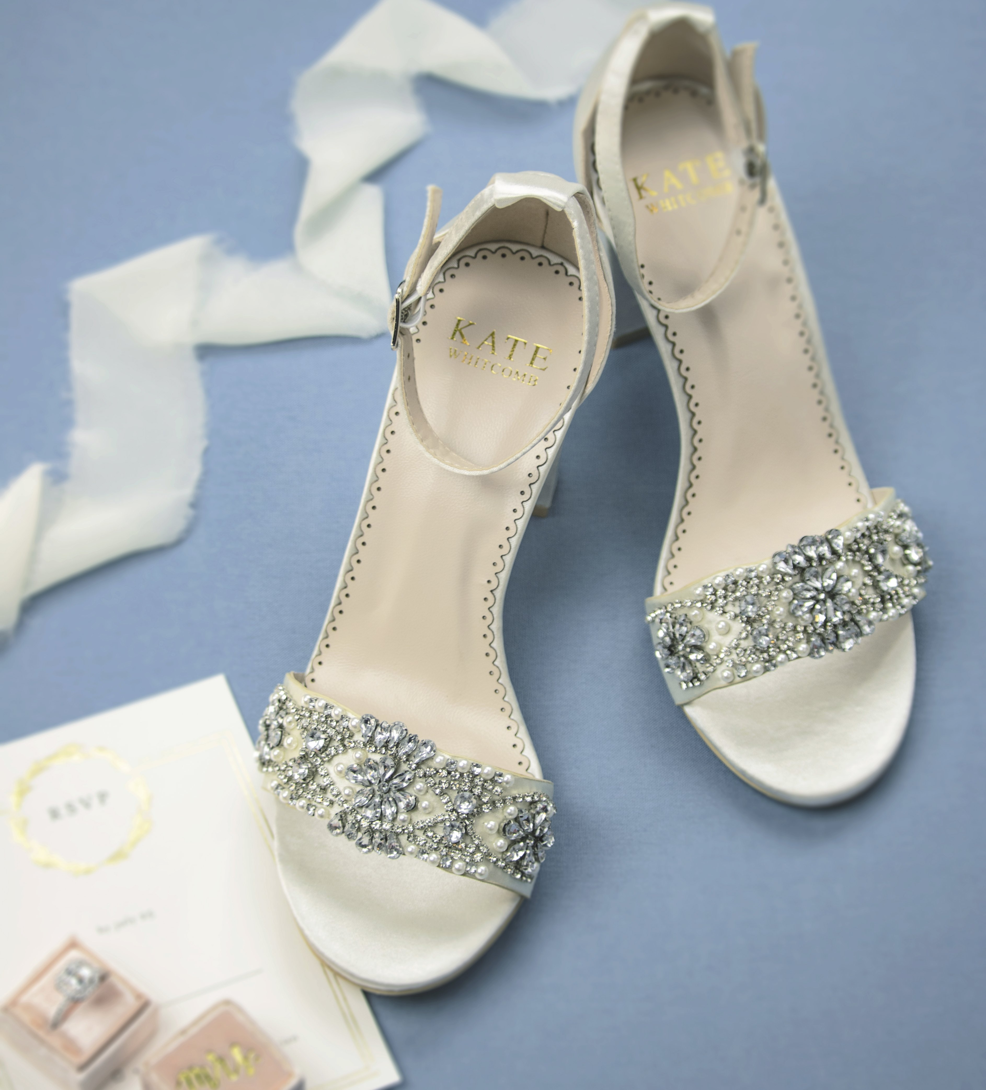 Bridal Shoes Block Heel Lucy Ivory in 2020 Wedding