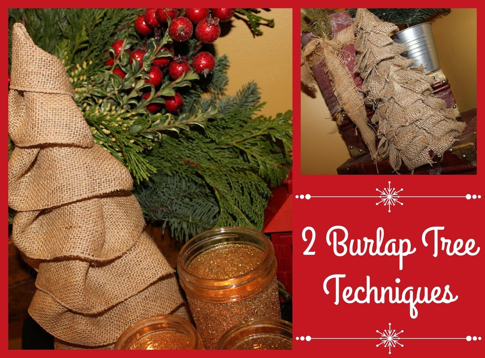 2 Burlap Tree Techniques   YTMM Handmade Holidays Collab