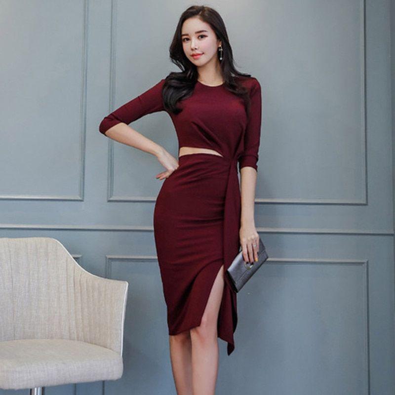45c3bf4e0ad40 Aliexpress.com : Buy 2019 New Spring Women Dress V Neck Half Sleeve ...
