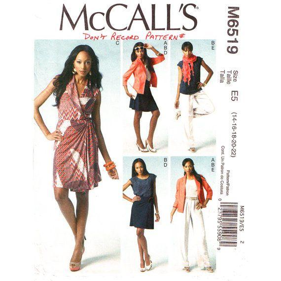 Jacket Top Wrap Dress Skirt & Pants Pattern by finickypatternshop, $9.75