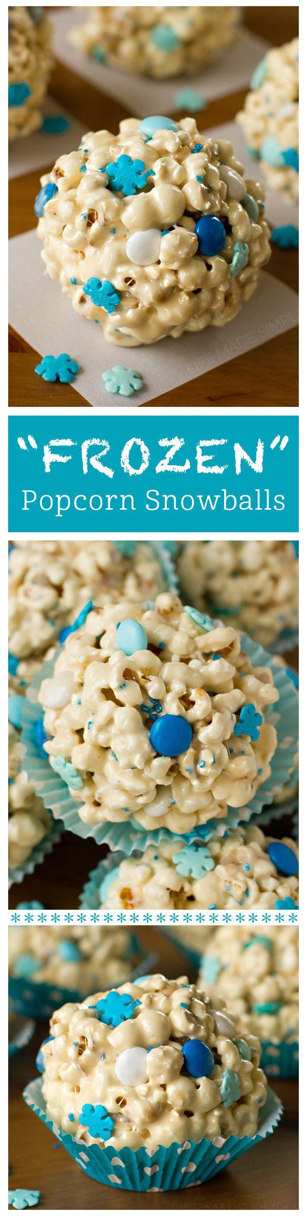 """Frozen"" Popcorn Snowballs | Life Made Simple"