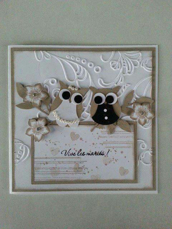 carte de f licitations beige pour un mariage cartes par aure scrap creations stampin up. Black Bedroom Furniture Sets. Home Design Ideas