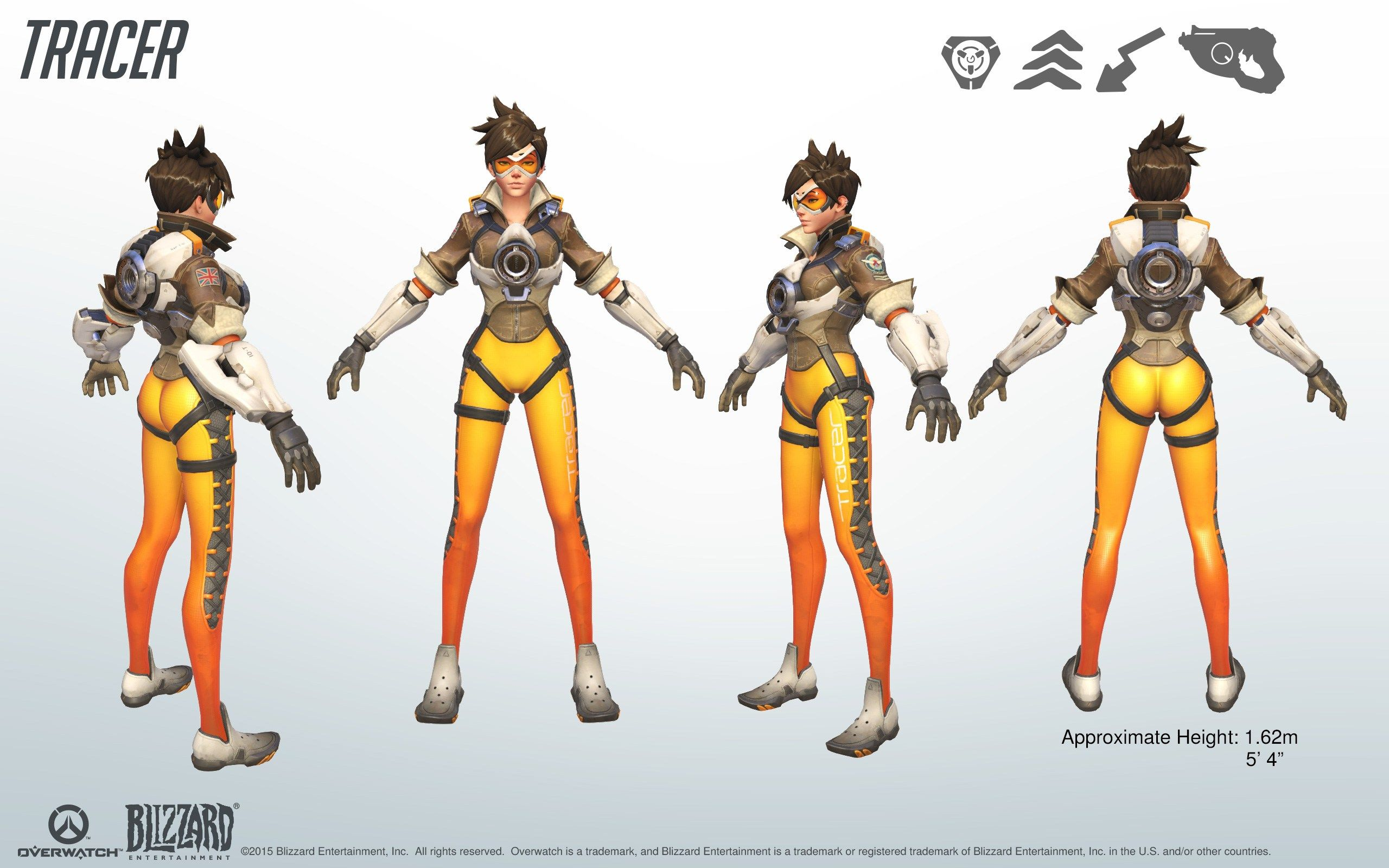 Character Design Careers : Tracer overwatch model sheet turnaround