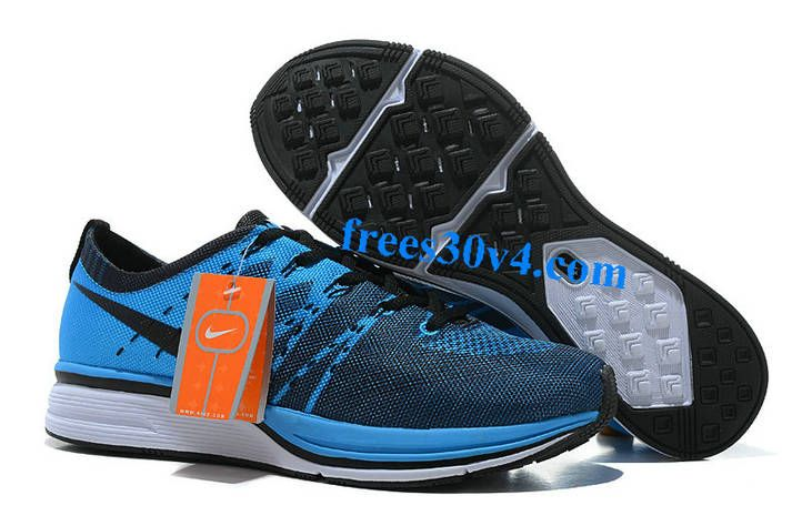 Discount Nike Flyknit Trainer Mesh Blue Black Men's Sneakers