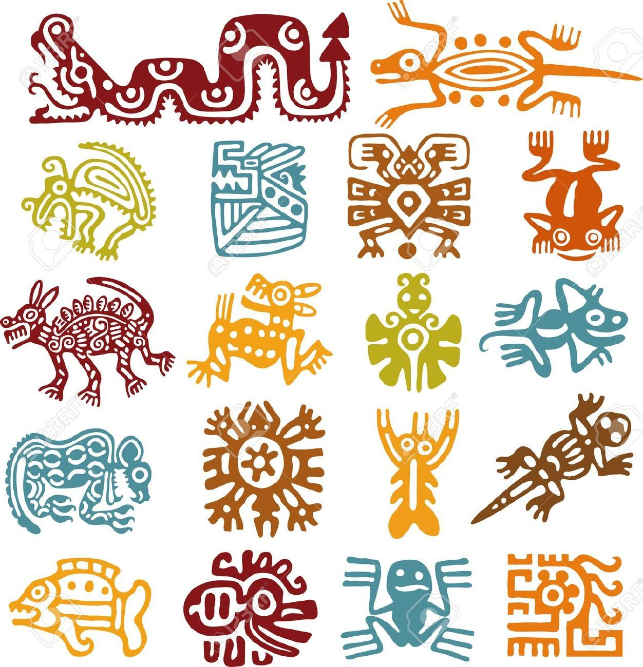 Mayan Animals Symbolism Symbols Aztec Art And On