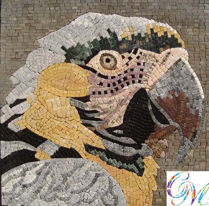 Decorative Stone Tile An022 Marble Mosaic Parrot Decorative Stone Tile  Animal Marble