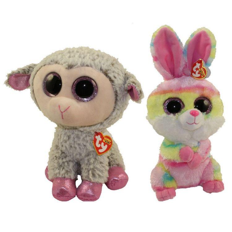"NEW TY Beanie Babies Boos Easter Bunny Rabbit BLOOMY Plush Stuffed Animal 9/"""