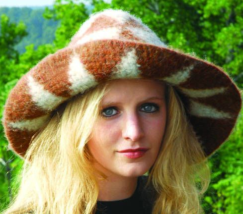 Carol Ventura is the absolute master of the art of Tapestry Crochet. This is her felted tapestry hat
