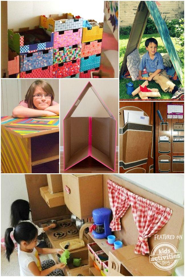 Diy Cardboard Furniture For Kids Diy Cardboard Furniture Cardboard Decor Cardboard Furniture