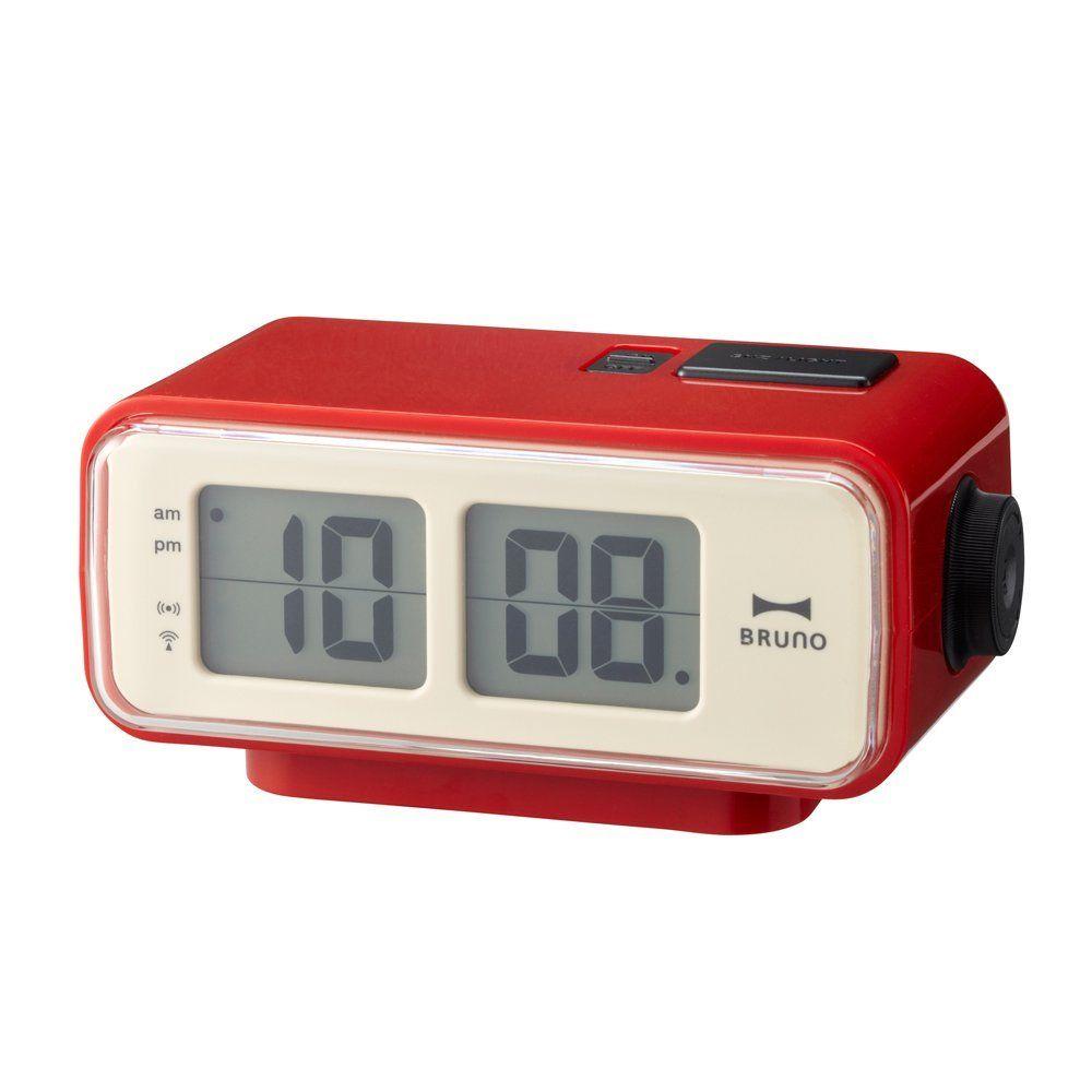 Amazon Com Retro Digital Flip Desk Alarm Clock Red Home Amp