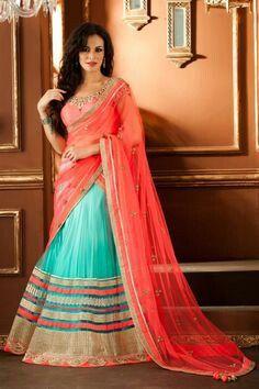 Beautiful Lehnga With Colour Combination