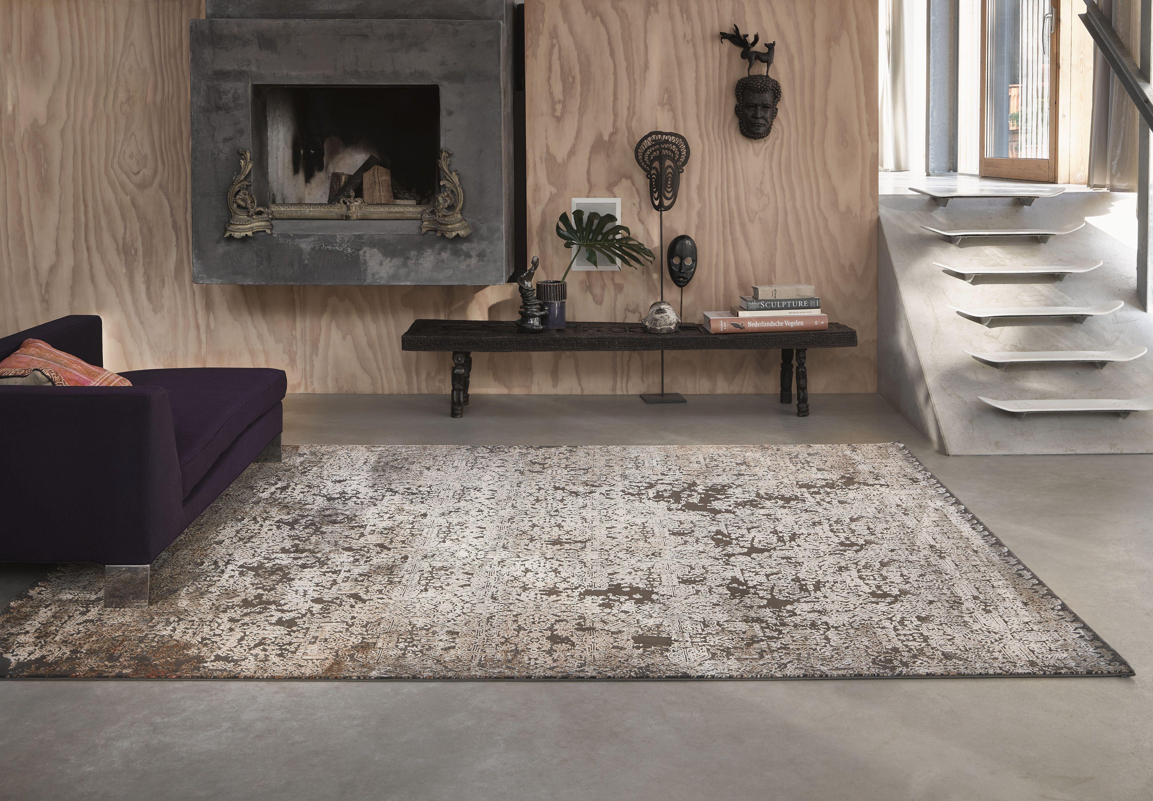 Teppich Gold Braun Vintage » Bel Etage « Wecon Home  Vintage