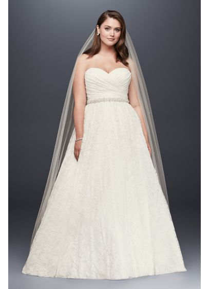 Sweetheart Plus Size Lace Ball Gown Wedding Dress Style 4XL9WG3829 ...