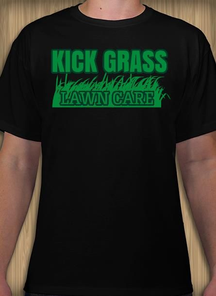 Kick grass lawn care landscaping tshirt idea and template