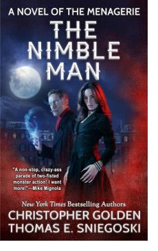 http://bookbarbarian.com/the-nimble-man-by-christopher-golden-thomas-e-sniegoski/ Behind the facade of a stately Boston brownstone, humanity's last defenses are being marshaled. Called to action by the enigmatic, brilliant man known only as Mr. Doyle, they hail from all planes of existence and are born from an array of supernatural and otherworldly backgrounds and bloodlines. But as the group struggles to come to terms with their shadowy pasts, personal demons, and conflictin