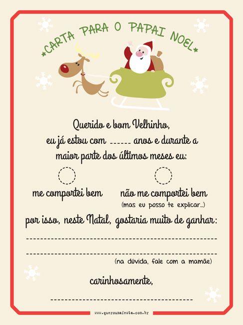Carta Para O Papai Noel Arquivo Gratis Carta Para O