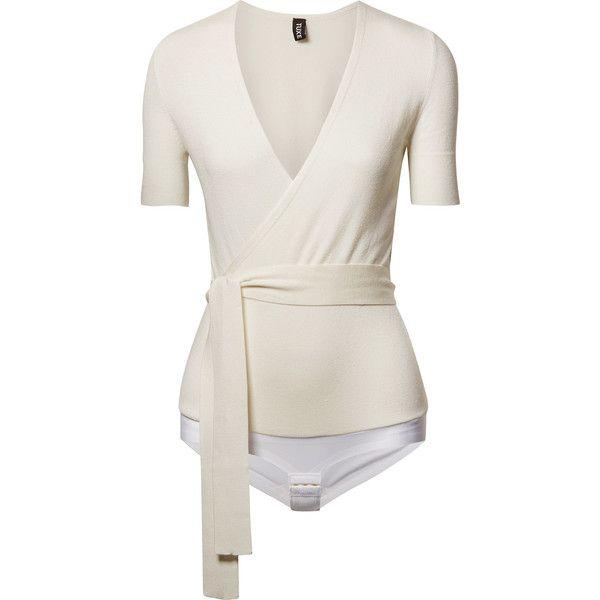 Solicitor Wrap-effect Stretch-knit Bodysuit - Ivory Tuxe Bodywear Discount Big Discount 8h2B7oz