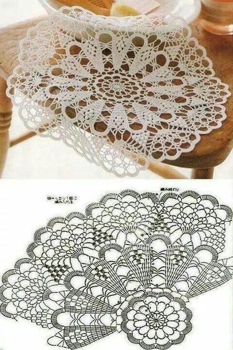 Crochet doily with chart | crochet | Pinterest | Croché, Ganchillo y ...