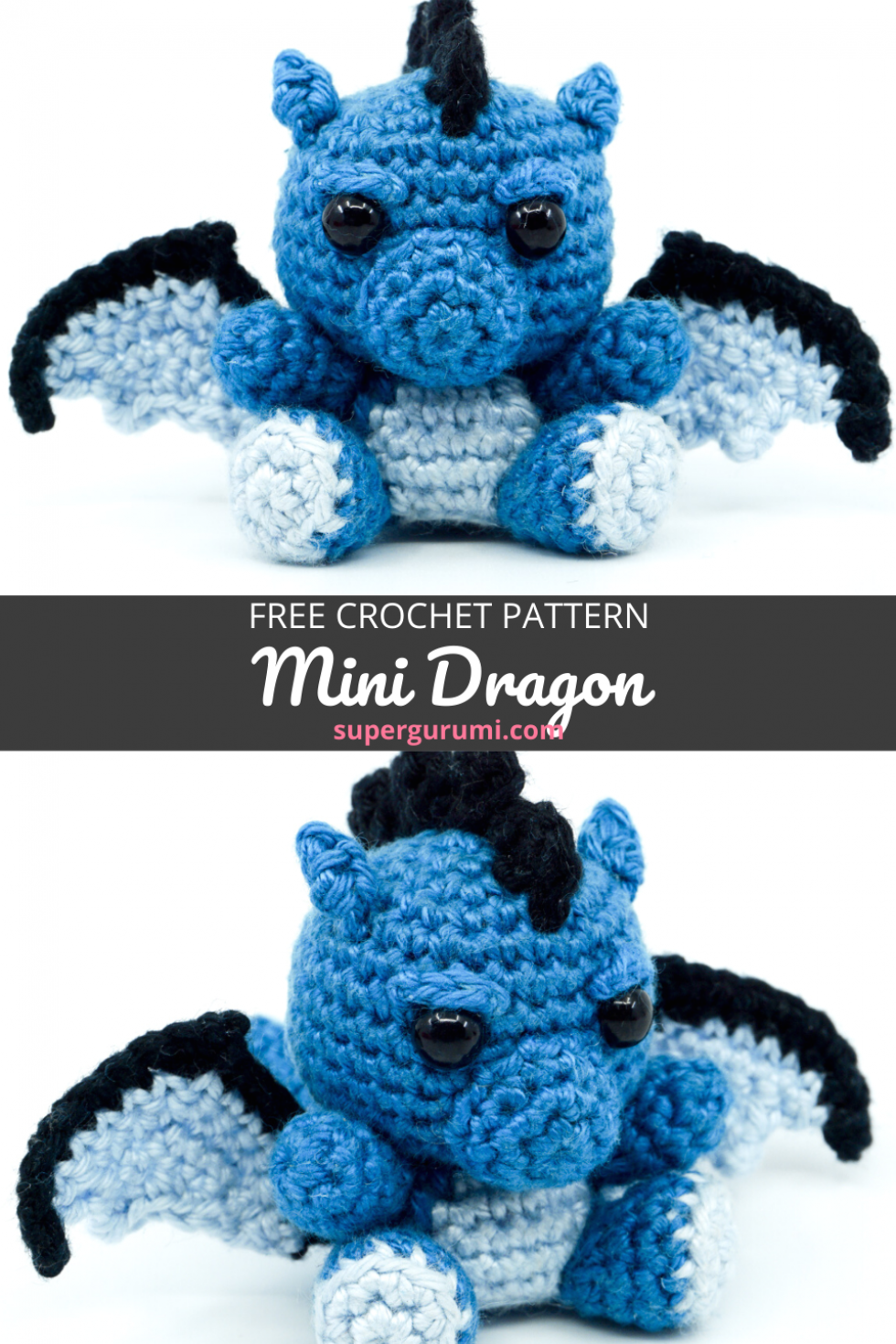 Free Amigurumi Mini Dragon Crochet Pattern