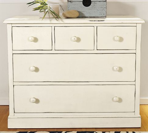 charlotte dresser antique white pottery barn dresser i bought in may for my master
