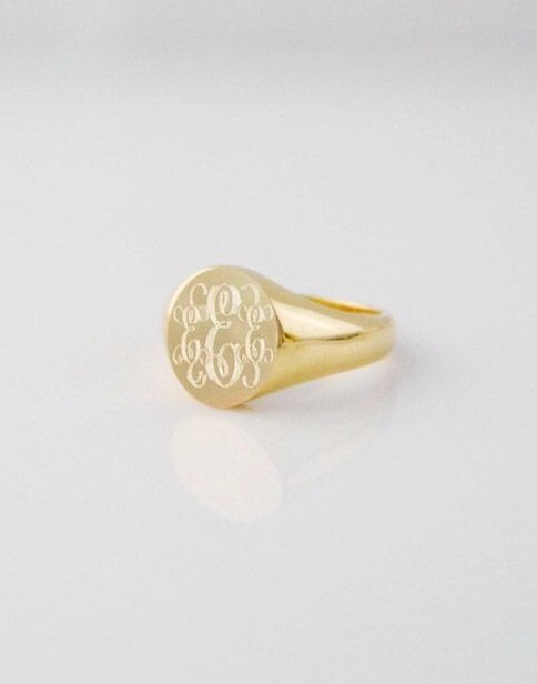 Women's Classic Signet Ring  14k yellow gold by SentimentsInMetal