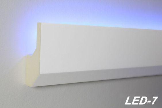 Details zu 40 Meter LED Profil PU Stuckleiste indirekte Beleuchtung