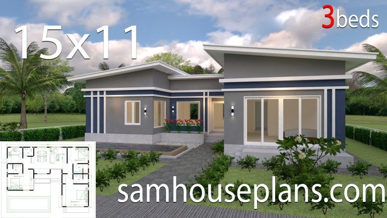 House Plans Idea 17x13 With 3 Bedrooms In 2020 House Plans Mansion Architectural House Plans House Plans