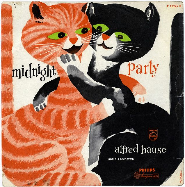 Midnight Party Lp Cover Cover Art Cats