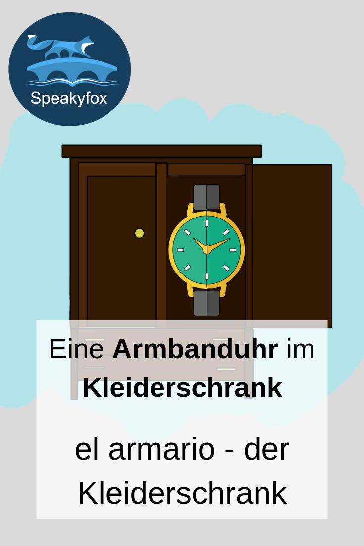 El Armario Der Kleiderschrank Spanisch Worter Kleiderschrank Schrank