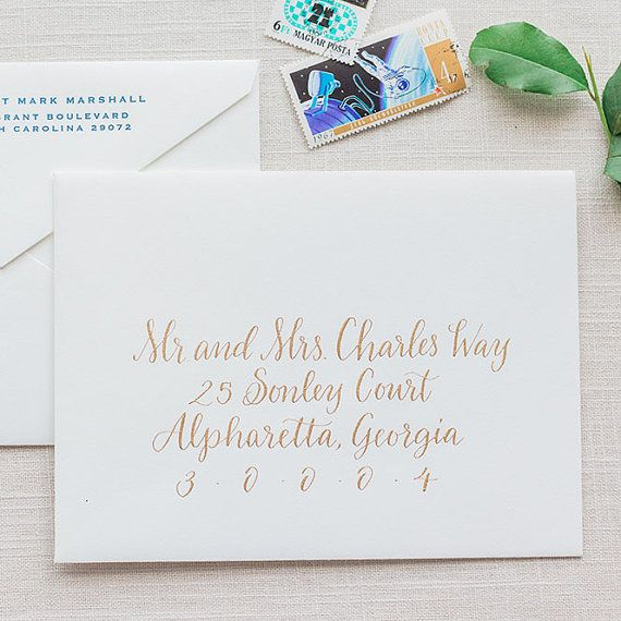Wedding Calligraphy Envelope Addressing Manitou Springs Etsy In 2020 Wedding Envelope Calligraphy Calligraphy Envelope Addressing Calligraphy Envelope