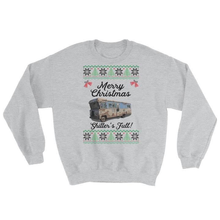 Merry Christmas Shitters Full Comfy Ugly Sweater - Vacation Inspired