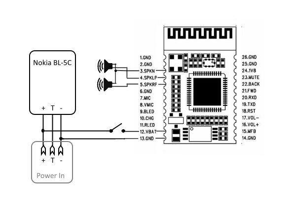 wiring bluetooth headset circuit diagram