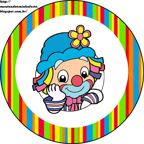 Kit Festa Patati Patata Gratis With Images Clown Party Circus