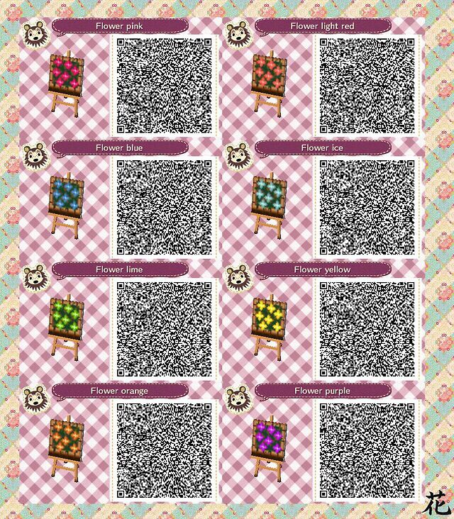 ACNL QR Code flower beds ACNL QR Codes Pinterest Qr