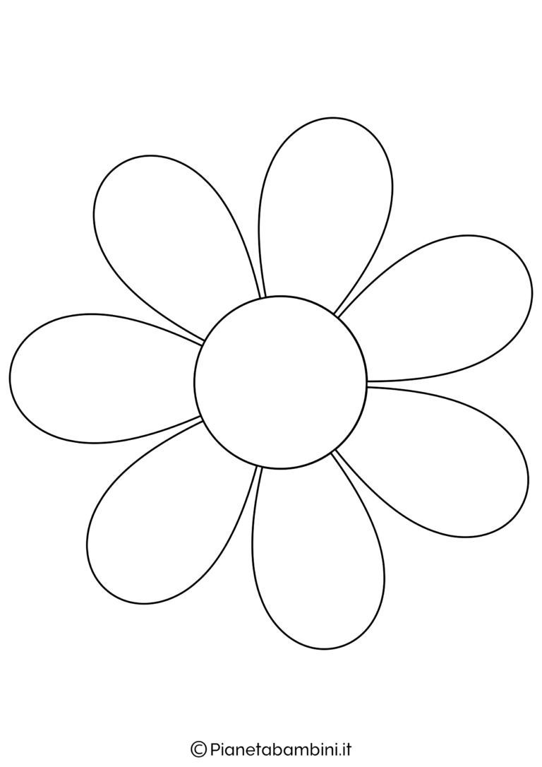 Sagoma Di Fiore Grande Da Stampare 2 Fiori Disegnati Da Colorare Fiori Da Stampare Disegni Da Colorare