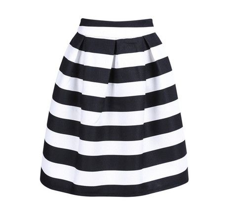 Falda midi blanco y negro  752a096bda60
