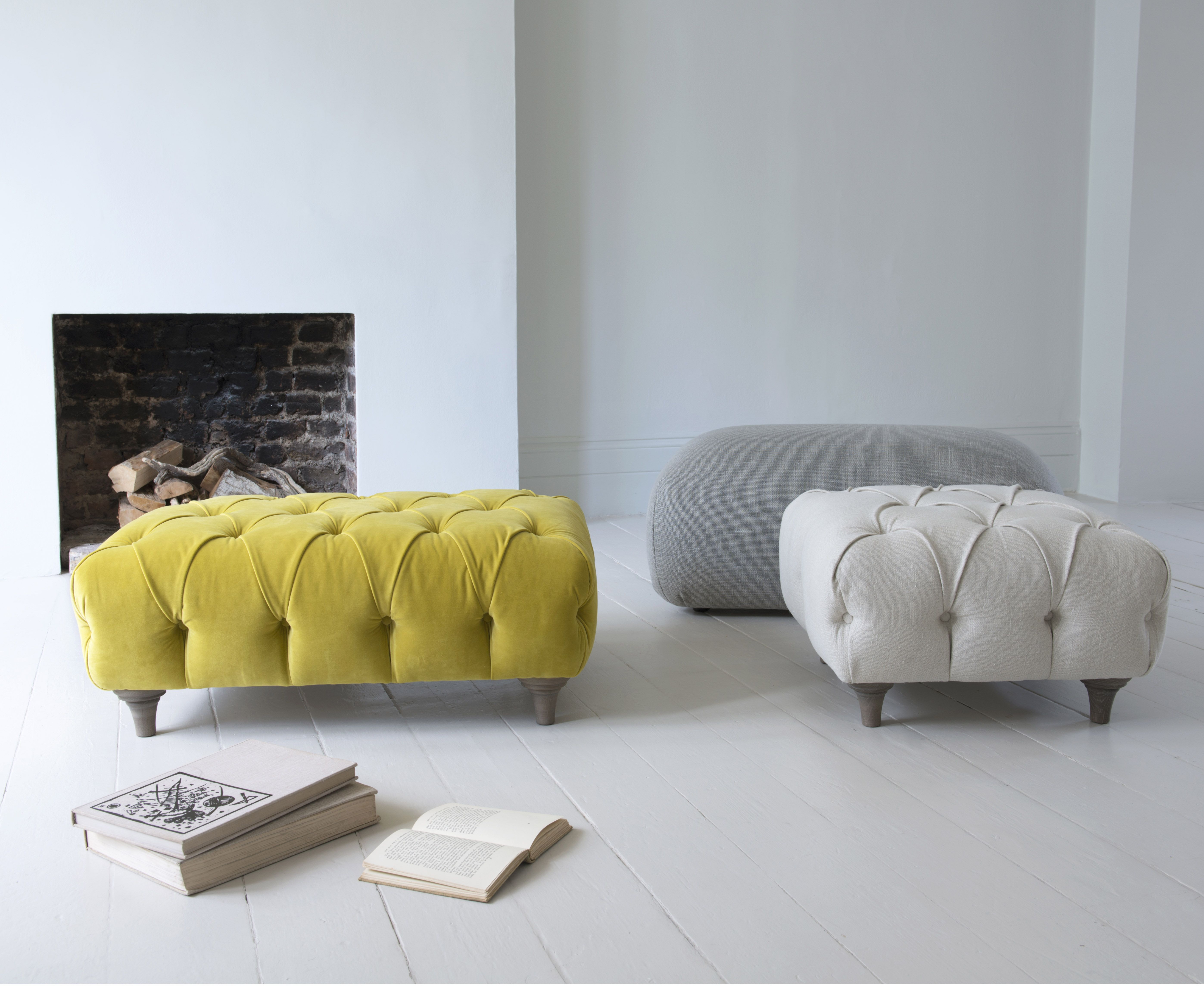 Need To Get An Off White Ottoman To Go With My Tufted