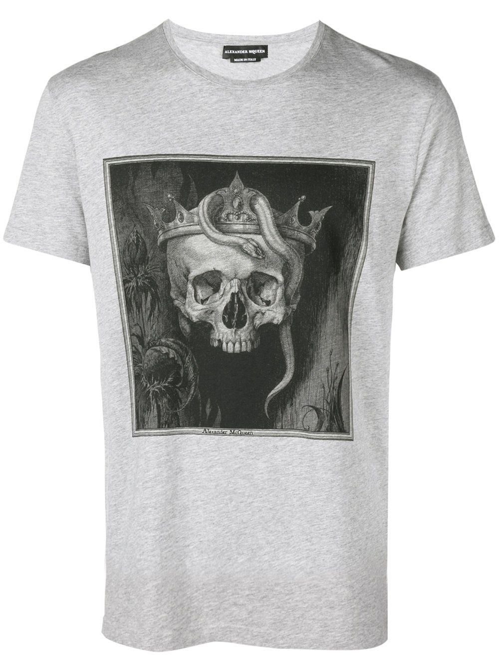 dcafdaa2 Alexander McQueen Crowned Skull T-shirt | T-shirts | Shirts, T shirt ...