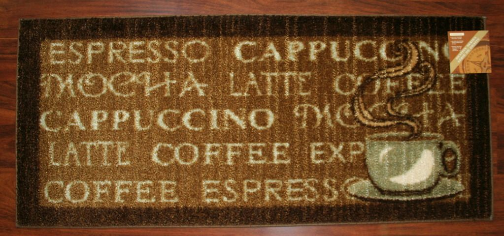 Coffee Rugs For Kitchen Outdoor 2x3 Rug Mat Washable Mats Cup Expresso Mocha Latte