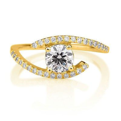 Buy 1 10 Ct Diamond Yellow Gold Wedding Ring KhannaJewels